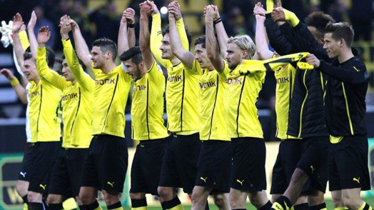 10. Борусия Д. 285 млн. паунда (474.41 млн. долара) Дортмунд стана шампион през сезоните 2010/11 и 2011/12, а миналата година остана подгласник на Байерн М. както в Бундеслигата, така и в Шампионската лига. Отборът е ставал шампион на Германия общо 8 пъти, а през 1997-а спечели Шампионската лига. Дортмунд притежава състав от 27 футболисти на средна възраст 25 г. Сред най-скъпите звезди са Роберт Левандовски, Марко Ройс, Илкай Гюндоган, Матс Хумелс и Хенрик Мхитарян