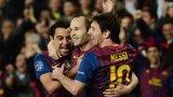 """Шави и Иниеста бяха сред най-обичаните футболисти на """"Камп Ноу"""" заедно с Лео Меси."""
