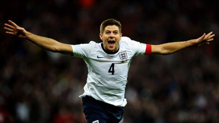 Със 114 мача за Англия, Джерард е трети по този показател.