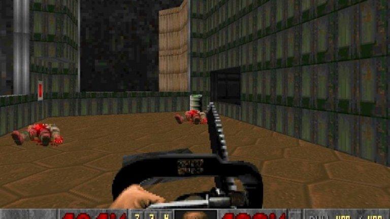 Doom  Класическата игра, пионер в един от най-популярните и до днес жанрове, се помни и като заглавие с обилно количество кръв. Макар че убивате демони с най-различни огнестрелни оръжия, за предпочитане е незабравимата моторна резачка, която ги разцепва на две. За 1993 г. това беше нещо невиждано.