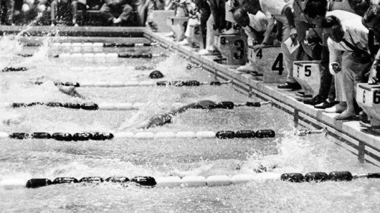 9. Рим 1960: Все още няма технологии Американецът Ланс Ларсън и австралиецът Джон Девит финишират почти едновременно в свободния стил на 100 м. Тогава все още няма модерни технологии и всичко е в ръцете (или по-точно в очите) на съдиите. Ден по-късно съдиите присъждат победата на Девит, въпреки че по-късно се разбира, че Ларсън е истинският победител.