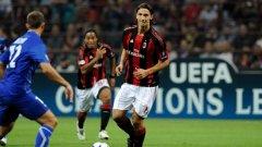 При дебюта си в Шампионската лига срещу Оксер, Златан Ибрахимович отбеляза два гола и донесе победата на Милан