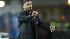 """Милан и Гатузо регистрираха трето поредно равенство в Серия """"А"""" и началото на сезона определено е слабо за тях"""