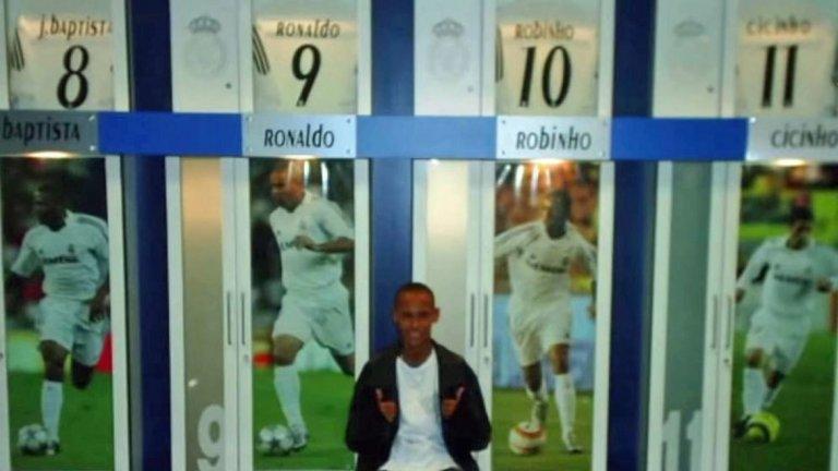 Ней е прекарал няколко дни в Мадрид, заедно с баща си Неймар-старши, както и на тренировъчния комплекс Валдебебас, снимайки се около стадиона и в съблекалнята, където тогава имаше фланелки на четирима бразилци: Роналдо, Жулио Баптиста, Робиньо и Сисиньо.