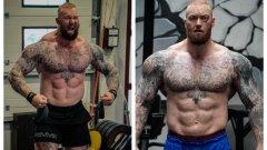 """Планината от """"Игра на тронове"""" изкара плочки на 155 кг преди боксовия си дебют"""