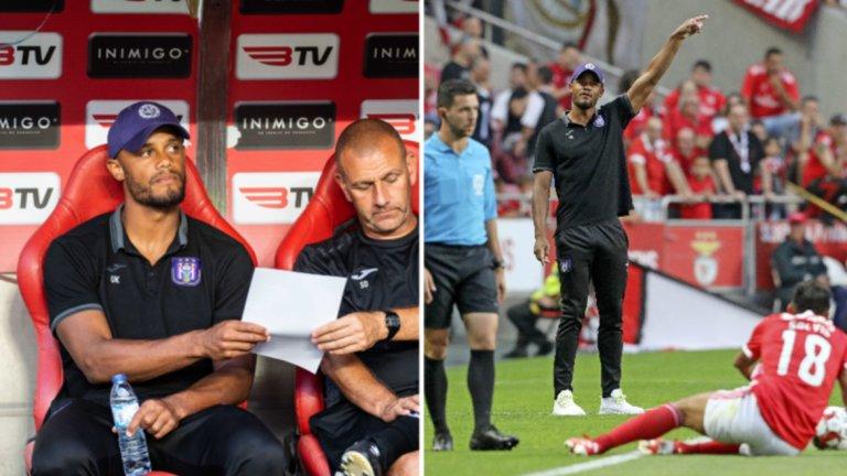 Началото за Компани като треньор на Андерлехт е разочароващо. Проблемът е, че през паузата за националните отбори той няма да има много време да промени нещата