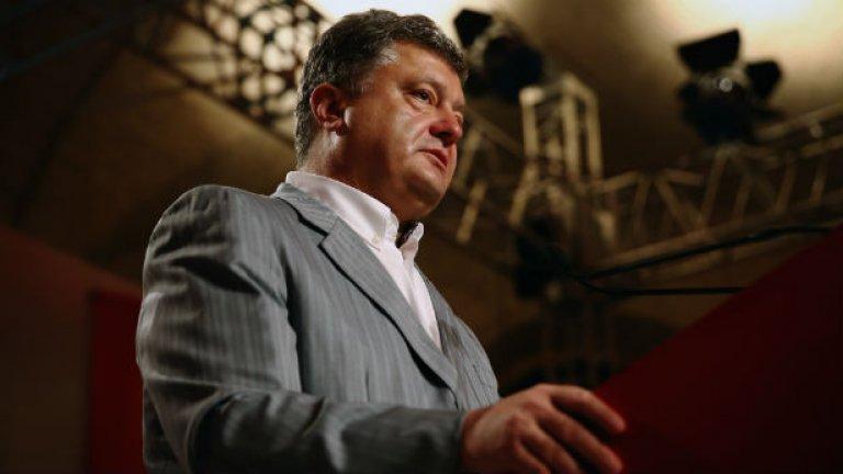 Украинският президент Петро Порошенко е на среща с председателя на Европейския съвет Херман Ван Ромпой