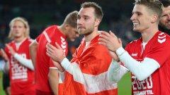 Ериксен зарадва съотборниците си след излизането от болницата