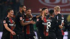 Байерн отнесе три гола за полувреме и загуби в Леверкузен