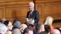 Волен Сидеров бойкотира избора на нов вицепремиер от НФСБ