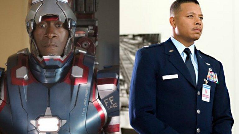 """Дон Чийдъл беше избран за ролята на полковник Роудс през 2010 г. на мястото на Терънс Хауърд, който се появи в първия Iron Man две години по-рано. Феновете нямаха нищо против да видят номинирания за """"Оскар"""" актьор в същата роля. Размяната им обаче се е случила не толкова заради слабости в изпълнението на Терънс Хауърд, а заради амбициите му да получава същия хонорар като на Робърт Дауни-джуниър."""