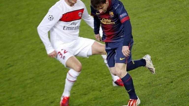 """""""Когато Лео Меси минаваше покрай мен, знаех, че е време да се откажа"""" - Дейвид Бекъм като играч на ПСЖ през 2013 г. след отпадането от Барселона на 1/4-финалите в Шампионската лига. Каталунците продължиха напред след две равенства (2:2 в Париж и 1:1 на """"Камп Ноу"""") и благодарение на повече голове на чужд терен."""