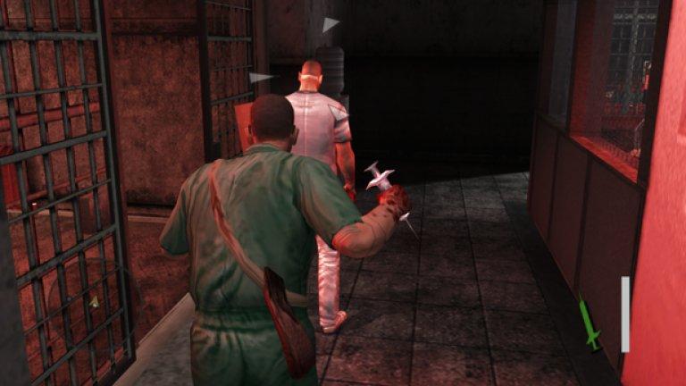 """Manhunt  Ето една игра, базирана изцяло на това да намирате нови и по-садистични начини за убиване на противниците. Разнообразието е плашещо: можете да убивате с всичко, което намерите под ръка, включително пластмасови торбички, железни лостове, спринцовки.   Всяка екзекуция изглежда потресаващо и затова играта беше забранена в няколко страни и дори свързвана с реално убийство от английските медии. А един бивш служител на разработчиците от Rockstar призна, че в самата компания не са се чувствали комфортно спрямо Manhunt. """"Стигна се почти до бунт заради тази игра"""", каза той."""