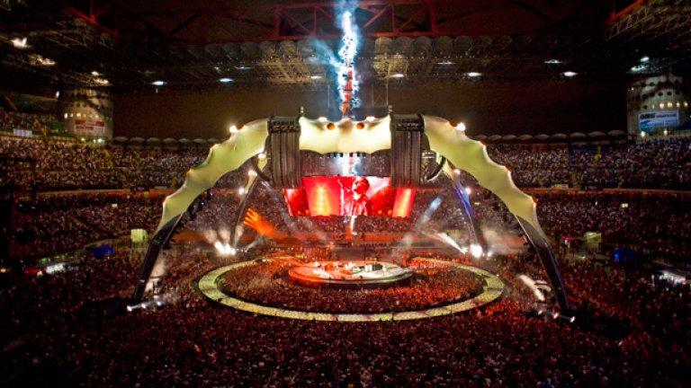 360° tour на U2 е най-скъпото турне, организирано някога