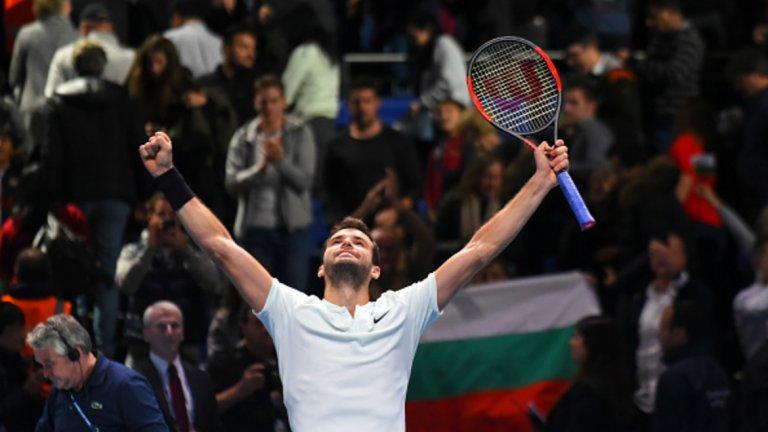 Над 1 млн. гледаха на живо победата на Григор Димитров на финалния турнир за годината
