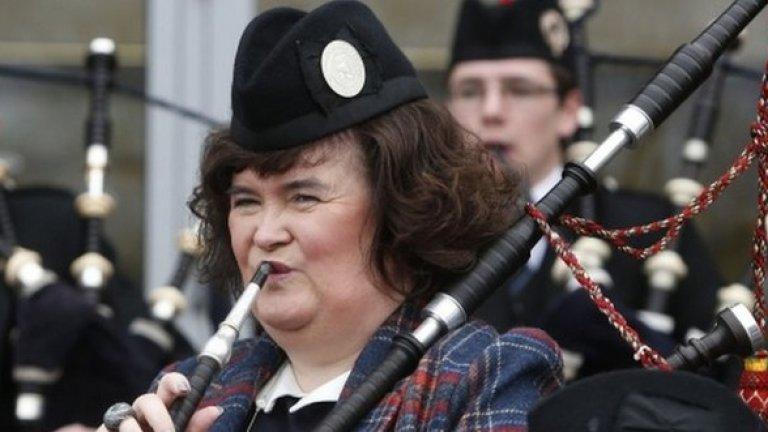 """Сюзън Бойл  Популярната певица, която доби световна слава, печелейки риалити формата """"Britain's Got Talent"""", ще гласува с """"Не"""" на референдума на 18 септември.  Пред местен вестник тя заявява """"Аз съм горда, че съм от Шотландия, изпитвам патриотизъм към наследството на страната ни. Но аз не съм националист"""""""