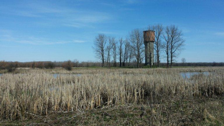 """Стара водонапорна кула на територията на природен резерват """"Персин"""""""