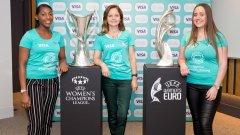 Visa ще подкрепи и маркетинговата платформа на UEFA - Together #WePlayStrong, чиято цел е да накара повече момичета и жени да играят футбол.