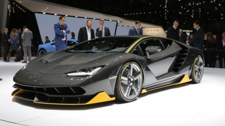 На автомобилния салон в Женева Lamborghini представи Centenario - модел за 100-годишния юбилей на Феручо, като серията от 40 бройки е разпродадена