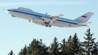 Машината е предвидена за летяща командна крепост за руския президент при ядрен конфликт, а в конкретния момент е била приземена за планов ремонт