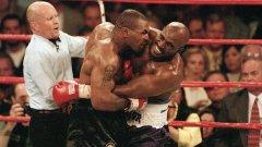 28 юни, 1997 г. Майк Тайсън отхапва парче от ухото на Ивендър Холифийлд в боя за световната титла по бокс. Шокиращата гледка води до наказание с отнемане на лиценза му да се боксира и глоба от 3 милиона долара.