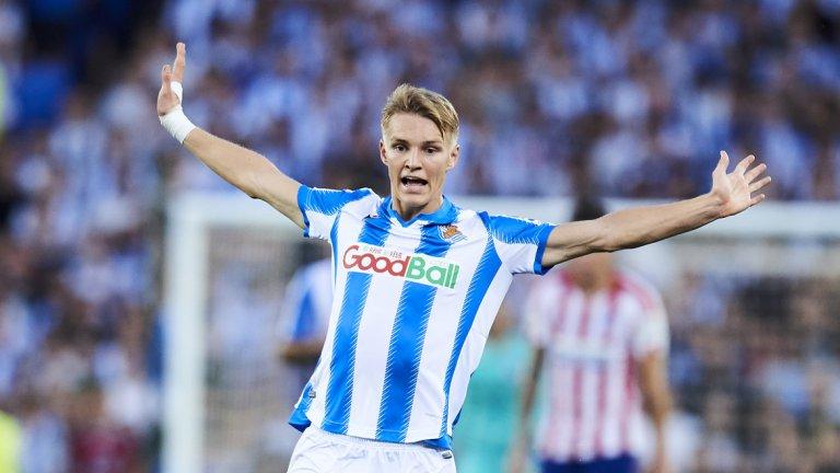 Мартин Йодегард започна впечатляващо сезона и вече има два гола за Сосиедад и две асистенции срещу името си.