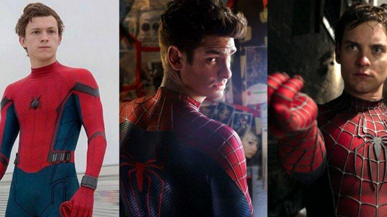 """Том Холанд направи дебют като Спайдърмен през 2017 г. със """"Завръщане у дома"""", а интерпретацията му на Питър Паркър беше приета с доста високо одобрение сред феновете на Marvel. Дори Робърт Дауни-джуниър призна, че Холанд """"е нещо различно, влезе в ролята  с гръм и трясък"""". Холанд замени Андрю Гарфийлд в образа на човека-паяк."""