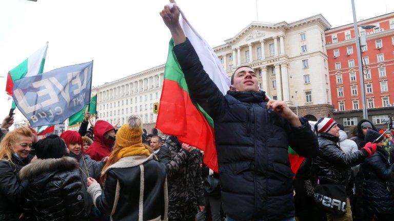 Протестът на заведенията пред Министерски съвет (снимки)