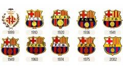 Емблемите на Барса през годините
