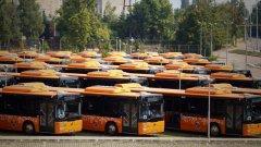 Протест на шофьори от градския транспорт в София
