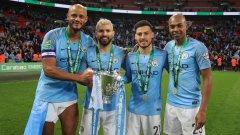 Манчестър Сити ще почете със статуи клубните легенди Венсан Компани, Серхио Агуеро и Давид Силва