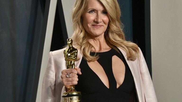 """Наградата на Лора Дърн за най-добра актриса в поддържаща роля за """"Брачна история"""" (Marriage Story) е първи """"Оскар"""" за актрисата.  Tова беше само и една от едва двете награди """"Оскар"""", които продукции на Netflix получиха (за най-добър документален филм беше отличен """"American Factory""""). Стрийминг услугата имаше общо 24 номинации, най-вече за """"Брачна история"""" и """"Ирландецът""""."""