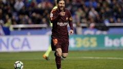 """Лионел Меси има вече 32 гола през сезона в Ла лига и излезе едни гърди пред Мохамед Салах в битката за """"Златната обувка"""""""
