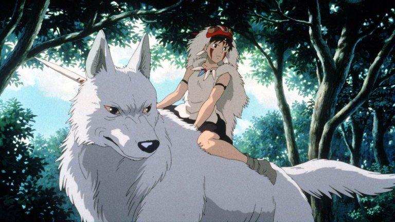 """Princess Mononoke / """"Принцеса Мононоке""""  Някои анимации от детството си заслужава да се припомнят, а в Netflix има изобилие от великолепните филми на японското студио """"Гибли"""". """"Принцеса Мононоке"""" обаче има един специфичен, отличаващ чар, заради който реално се спряхме точно на него. Тук главен герой е младият принц Ашитака. По времето на господарите самураи той живее в едно откъснато от света село. Когато селото е нападнато от огромен горски дух, превърнал се в демон, принцът е ранен с прокълната рана, която ще превърне и него самия в демон. Така той трябва да напусне дома си и да тръгне по света, за да потърси какво е превърнало духа в демон. Това, на което попада, е битката между човек и природа, по средата на която се намира и легендарната принцеса Мононоке."""