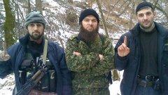 Доку Умаров с двама ислямски бойци