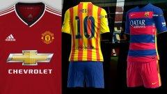 Юнайтед ще започне 10-годишния си договор с Adidas, докато Барса може да направи революционна промяна в екипировката си...
