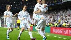 """На играчите на Реал им се наложи много да страдат на """"Бернабеу"""", за да си осигурят трети пореден финал в Лигата"""