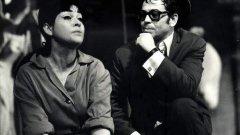 Мариана Аламанчева и Вели Чаушев на сцената на Сатиричния театър. Вели Чаушев почина на 6 януари 2018 г.
