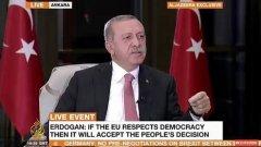 ЕС не е целият свят, каза турският президент
