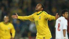 Робиньо игра добре за Бразилия в ЮАР, но няма да успее да запази мястото си в Манчестър Сити
