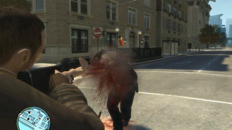 Поредицата Grand Theft Auto (GTA)  Съществуват доста по-кървави и жестоки игри от която и да е част на GTA, но огромната популярност на поредицата; това, че предлага разнообразни начини за убиване на случайни минувачи по улиците; и фактът, че е пионер в това отношение, й осигуряват място във всички подобни класации.  Престъпленията вътре никога няма да направят GTA любима за родители и възпитатели, но големите предимства на играта не са свързани с насилието, а със свободата, която дава на геймърите. Заедно с това обаче тя внушава и усещане за безнаказаност, заради което винаги ще бъде под прицела на морализатори и недоброжелатели.