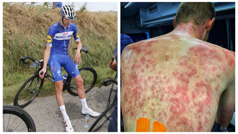 Ужасяващо: Колоездач показа какво означава да те застигне градушка по време на състезание
