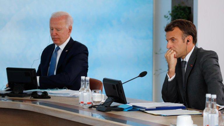 Президентите Макрон и Байдън ще се срещнат октомври, за да изгладят противоречията относно AUKUS