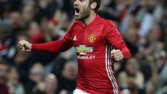 Хуан Мата беше героят за Юнайтед, вкарал единствения гол в 54-ата минута