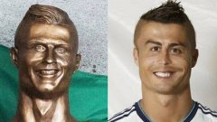 Статуята на Роналдо предизвика доста усмивки