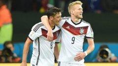 Йозил вкара победния гол за Германия срещу Алжир