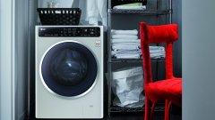 Пералнята LG F14U1JBS6  е с луксозна монохромна външност и може да превърне банята ви в една от най-стилните стаи у дома