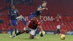 Отмениха един от червените картони срещу Манчестър Юнайтед