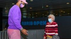 Неповторимо: Надал сбъдна мечтата на 95-годишната Мануела
