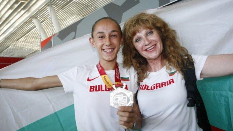 Лилия Георгива и треньорката й Радмила Станкович